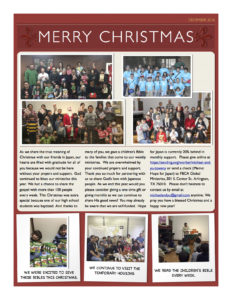 Christmas newsletter 2016