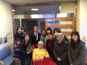 We went to visit our church member who lives at the nursing home.