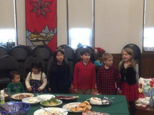 They did a great job singing a Christmas carol!